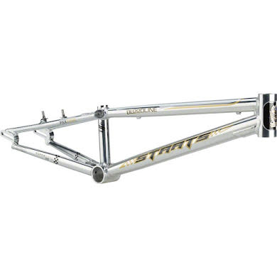 "Staats Bloodline SuperMoto30 Pro XXL PF30 Frame 22"" Top Tube Silver Arrow Polished Thumb"