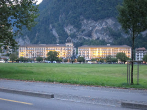 Photo: We start with a night in Interlaken. Marcia once worked as a maid here, in the Grand Hotel Victoria-Jungfrau.