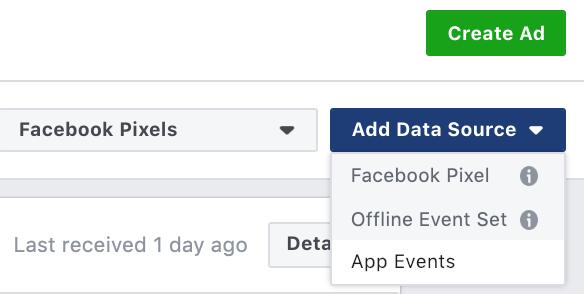 Create a facebook ad pixel.