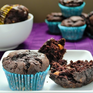 Chocolate Peanut Butter Banana Muffins.