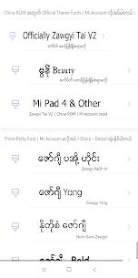 TTA Mi Myanmar Font Lite 4