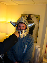 Photo: David with Shrek helmet