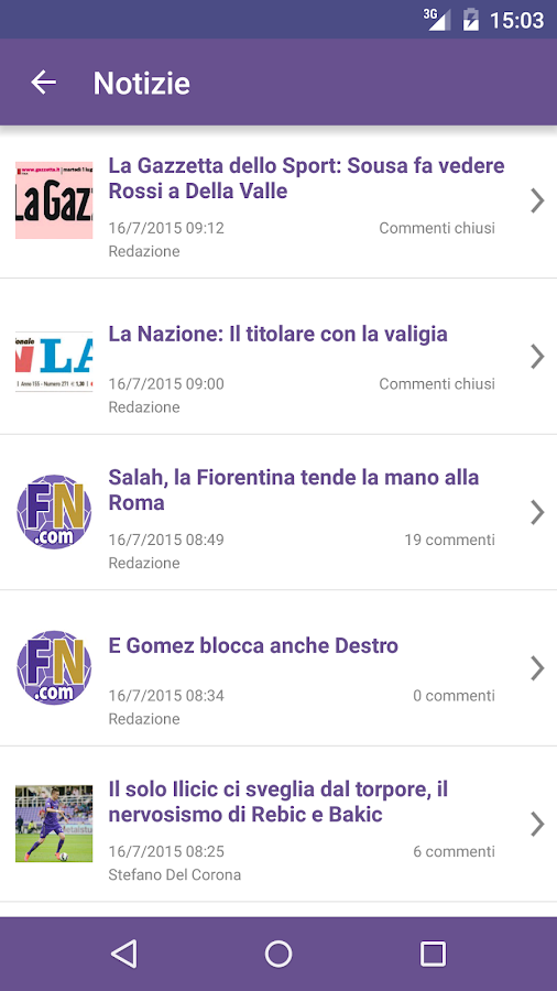 Fiorentinanews- screenshot