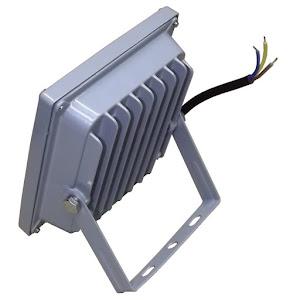 Proiector metalic LED 10W, IP66, alb rece, unghi 120 de grade
