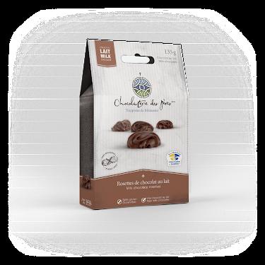 Chocolat Rosettes de chocolat au lait Boîtes maison