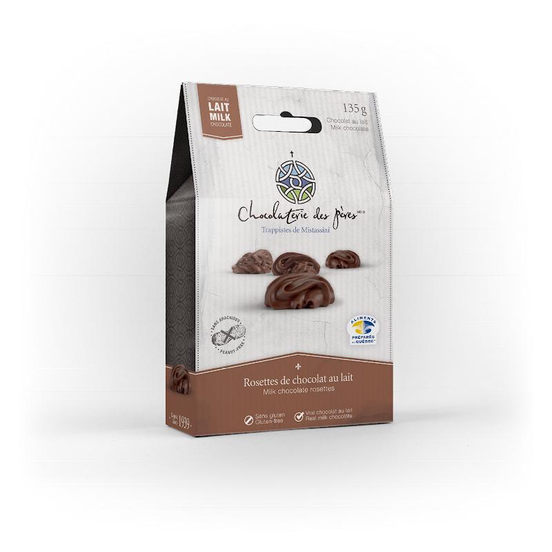 Chocolat Rosettes de chocolat au lait