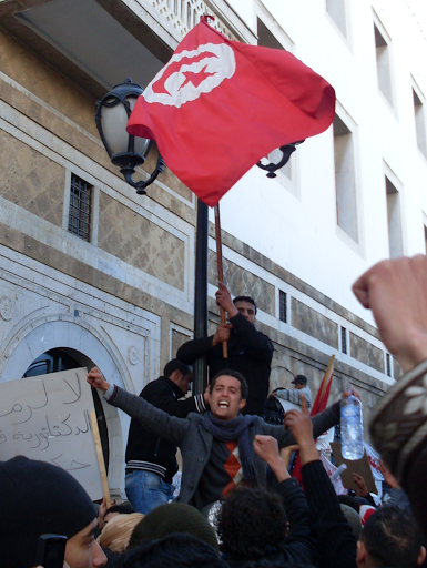 Anti-government demonstrations during the Tunisian revolution