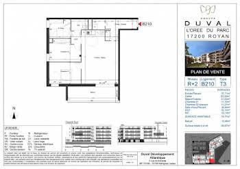 Appartement 3 pièces 76,77 m2