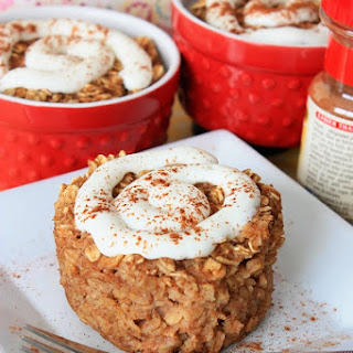 Skinny Cinnamon Roll Baked Oatmeal Recipe