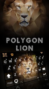 Polygon Lion Kika Keyboard - náhled