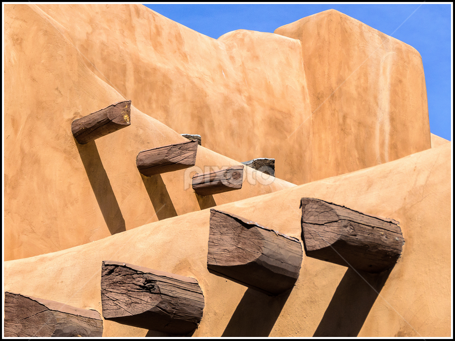 Shadows is Santa Fe by Giancarlo Bisone - Buildings & Architecture Architectural Detail ( adobe, santa fe, shadows, new mexico )