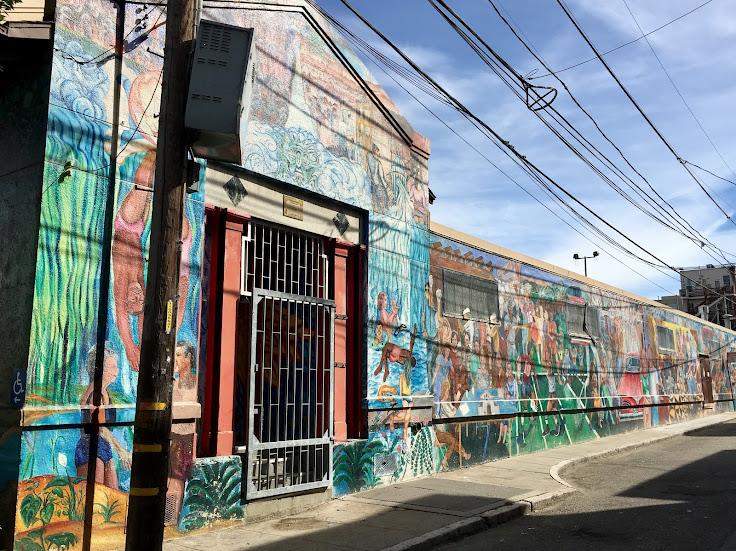 The mural down Linda St.