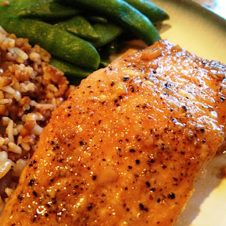 Maple Teriyaki Glazed Salmon.