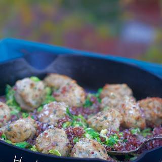 Ground Chicken Meatballs.