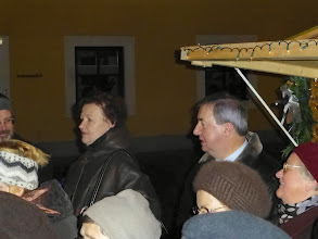 Photo: Ein Teil des evangelischen Pfarrers Christin Brost, Frau Vizebürgermeisterin Susanne Hermanek und Bürgermeister Helmut Laab.