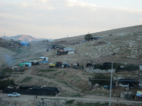 Photo: Bedouin camp by the side of the highway outside of Jerusalem