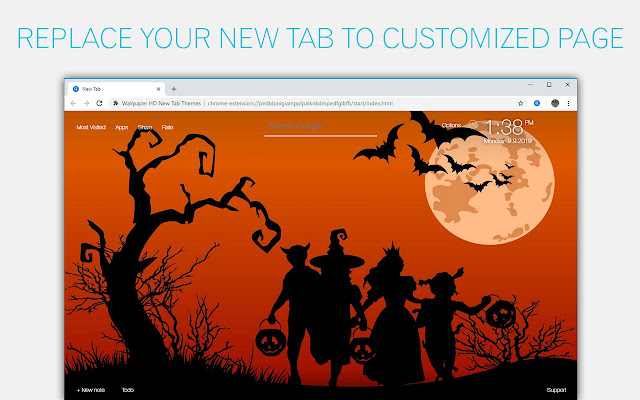 Scary Halloween Backgrounds HD Custom New Tab