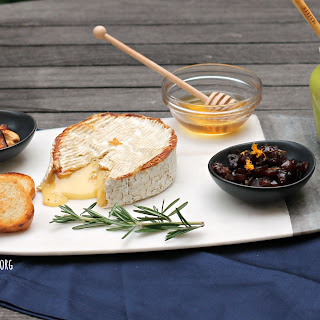 Grilled Camembert Cheese Plate.