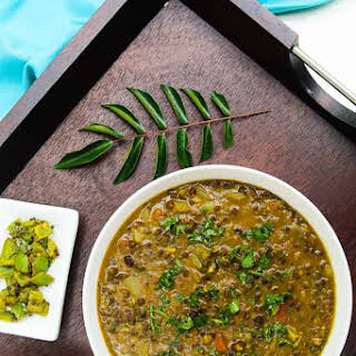 Curried Black Lentil (Urad Dal) Soup.