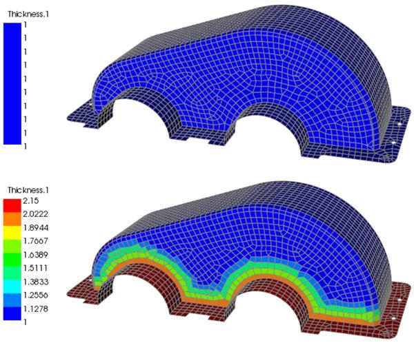 ANSYS - При разработке композитных деталей следует усиливать конструкцию там, где это необходимо