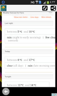 ... Weather forecast app free USA for android- screenshot thumbnail ...