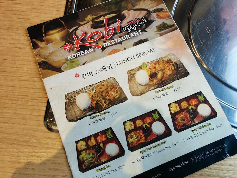 Lunch Special Menu at Kobi in North York