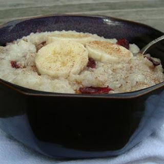 "Gluten-free Vegan Quinoa Banana ""tapioca"" Pudding."