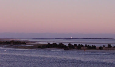 Photo: Cape Lookout Lighthouse as seen from Radio Island in Beaufort