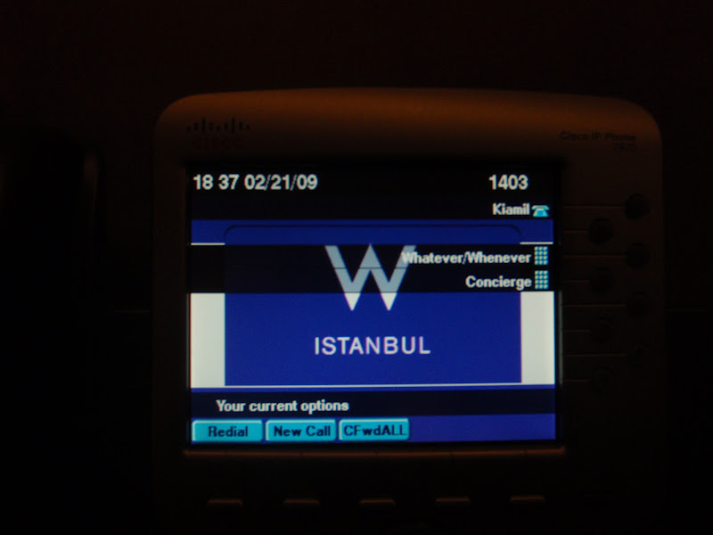 Photo: At the W Istanbul on my Cisco IP Phone 7965