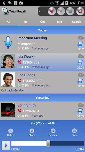 Call Recorder S9 & S10 screenshots 1