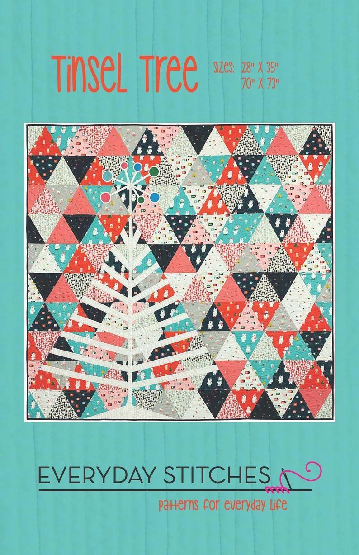 Tinsel Tree wall quilt pattern