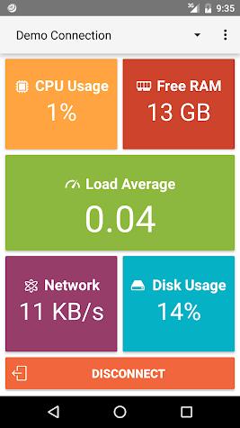 JuiceSSH Performance Plugin Screenshot
