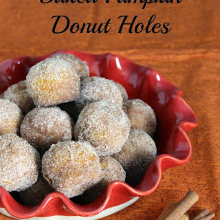 Baked Pumpkin Donut Holes.
