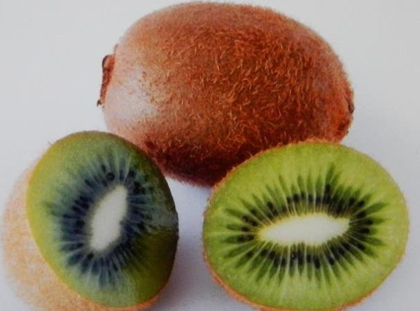 KIWI...Ripen at room temperature, then refrigerate. Rub off the fuzz or peel and slice....