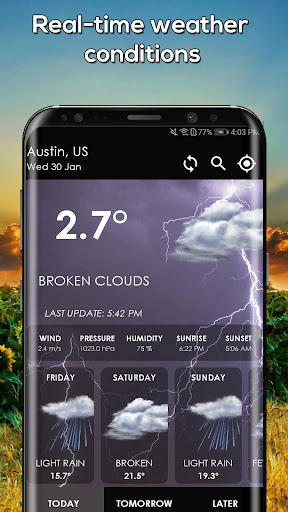 Screenshot for Hourly Weather App Weather Channel Weather Network in United States Play Store