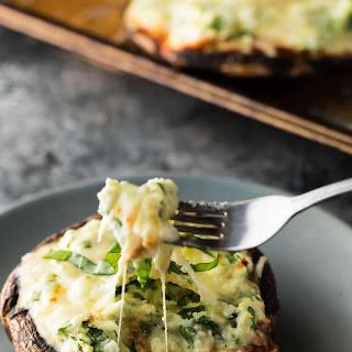 Lasagna Stuffed Portobello Mushrooms (Make Ahead, Freezer).