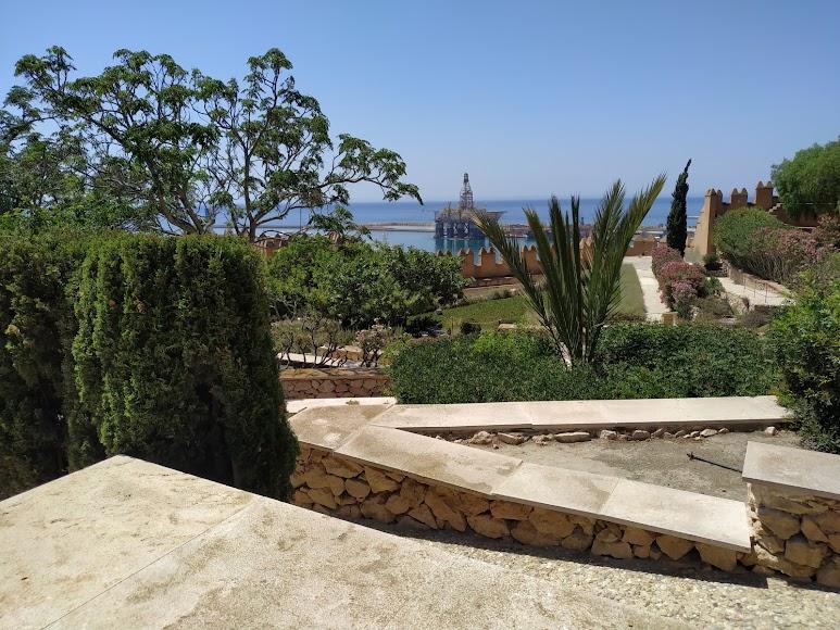 Jardines del primer recinto de la Alcazaba