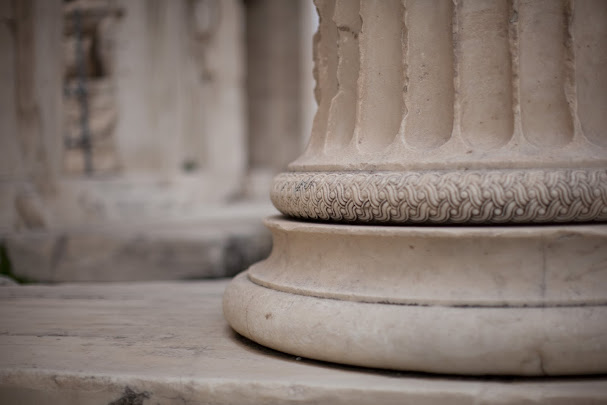 Detail of a pillar at the Parthenon