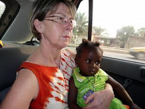 Photo: pour nous rendre à Abomey avec Perpétue