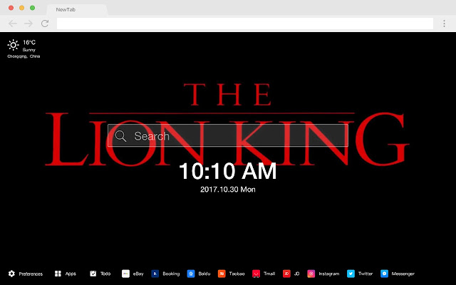 Lion King Pop Movie HD New Tabs Theme