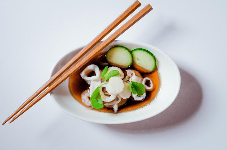 Japanese Seafood Salad (Sunomono) Recipe