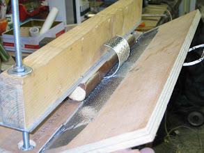 Photo: Bricolage de la plieuse pour préfabriquer les cylindres des gabarit