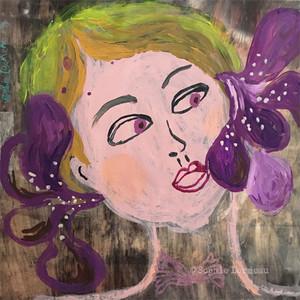 lady-woman-femme-iris-fleur-flowers-purple-portrait-face-visage-sophielormeau-lormeau-artiste-peinture-french-artist-art-tableau-toile-colorful-naif-naiv-contemporain-contemporary-