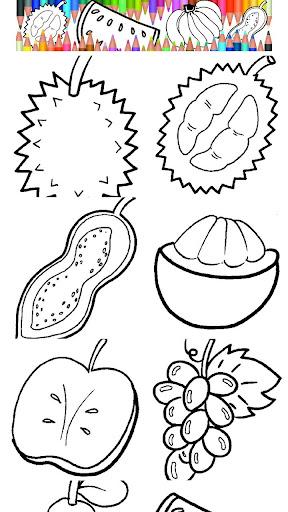 Fruits coloring kids games