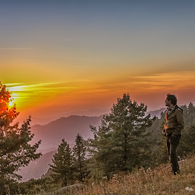 Looking Back by Fateen Younis - Landscapes Sunsets & Sunrises ( wilderness, jungle, autumn, sunset, twilight,  )