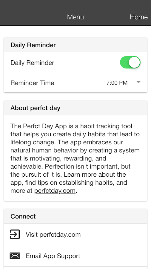Perfct Day:Daily Habit Tracker- screenshot