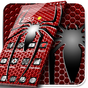 Red Metal Spider Hero Theme APK