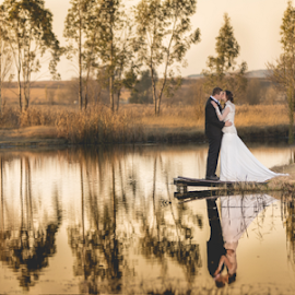 Lake by Lood Goosen (LWG Photo) - Wedding Bride & Groom ( bride, wedding dress, groom, wedding photography, wedding photographer, bride and groom, bride groom, weddings, wedding day, wedding photographers, wedding, brides )