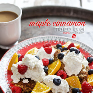 Maple Cinnamon Matzo Brei