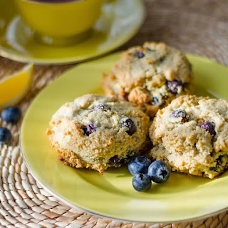 Lemon Blueberry Scones (Paleo, Gluten Free, Dairy Free) Recipe